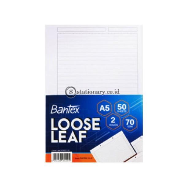 Bantex Loose Leaf Paper 2 Holes 70 gsm 50 Sheets A5 #8031