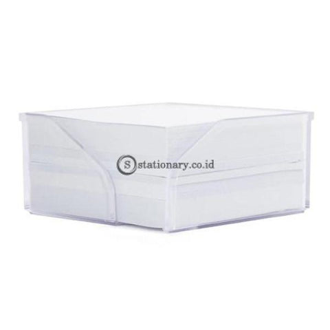 Bantex Memo 1/2 Cube Transparant #9750 01 Office Stationery