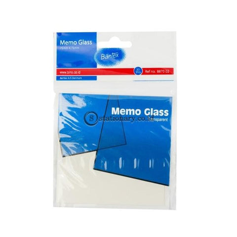 Bantex Memo Glass 75x75mm 30 Sheets #8870 02