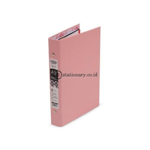 Bantex Multiring Binder Batik Series Musky Pink A5 20 Ring O 25mm #1334 74