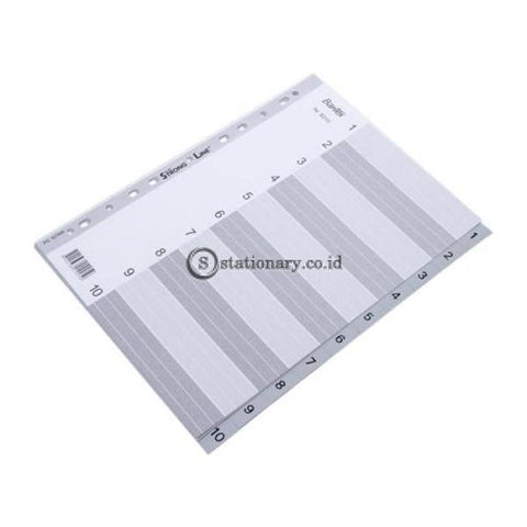 Bantex Numerical Indexes A4 10 Pages (1-10 Index) #6210 Office Stationery