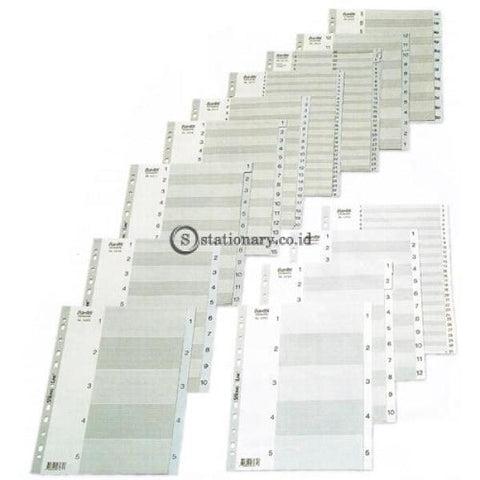 Bantex Numerical Indexes A4 Jan-Dec (12 Pages) #6219 Office Stationery