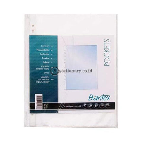 Bantex Plastik Pocket A4 0 05Mm With Top Opening (10 Sheets) #2021 08 Office Stationery
