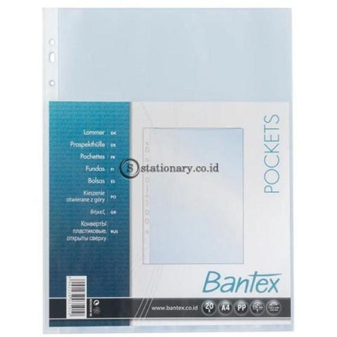 Bantex Pocket Pp A4 Antiglare 20 Pcs-Rb2035Ew 08 Office Stationery