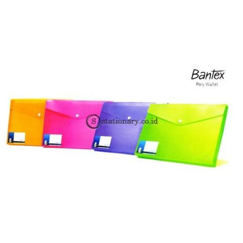 Bantex Poly Wallet Case A4 (2 Divider) #8013 Grass Green - 15 Office Stationery