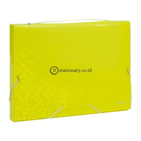 Bantex Pp Jolly Bright Document Box Folio #3612 Lime - 65 Office Stationery