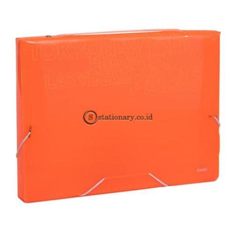 Bantex Pp Jolly Bright Document Box Folio #3612 Orange - 12 Office Stationery