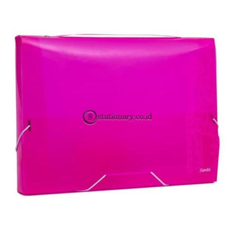 Bantex Pp Jolly Bright Document Box Folio #3612 Pink - 19 Office Stationery