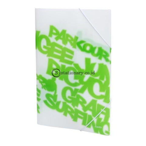 Bantex PP Jolly Bright Elastic Folder Folio Grass Green #3432 15