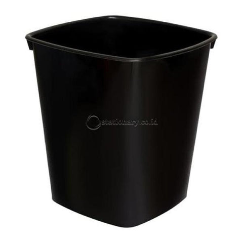 Bantex Waste Paper Basket Black #9820 10 Office Stationery