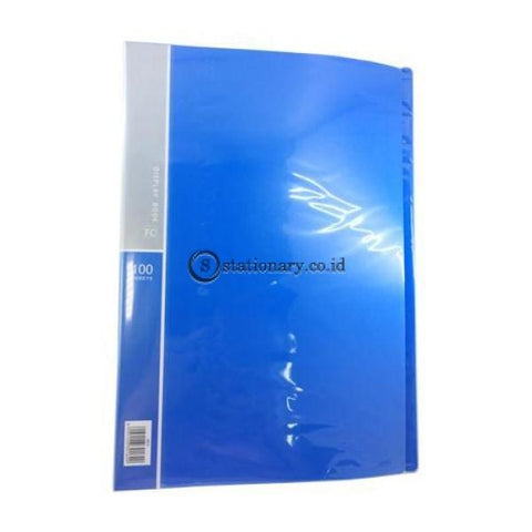 Bazic Clear Holder Album Folio 100 Sheets #451B Biru Office Stationery