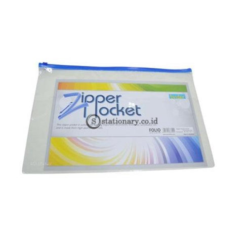 Bindex Zipper Pocket Mika Transparent 0.18Mm Folio #7130 Office Stationery