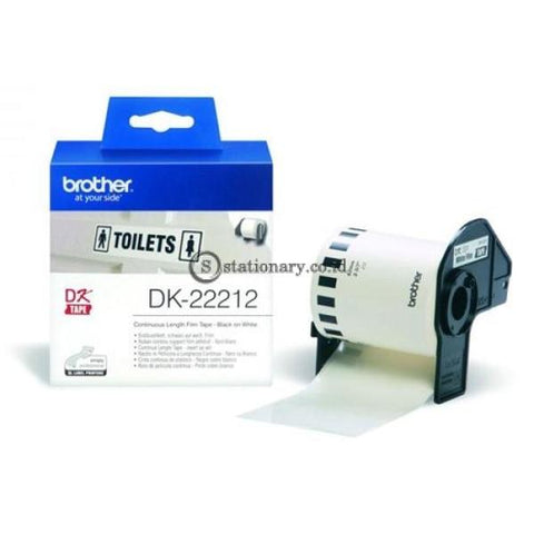 Brother Label Tape Dk-22212 Continuous Length Film White Office Equipment