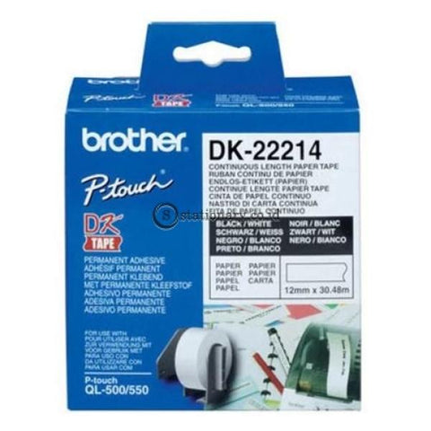 Brother Label Tape Dk-22214 Continuous Length Paper 12Mm X 30.48M Office Equipment