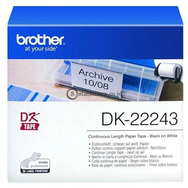 Brother Label Tape Dk-22243 Continuous Length Film Clear 102Mm X 30.48M Office Equipment