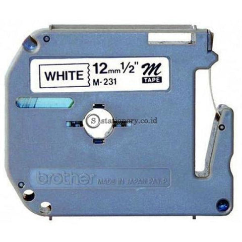 Brother Label Tape Mk-231 Hitam-Putih 12Mm Office Equipment