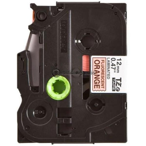 Brother Label Tape Tze-B31 Black On Fluorange 12Mm X 5M Office Equipment