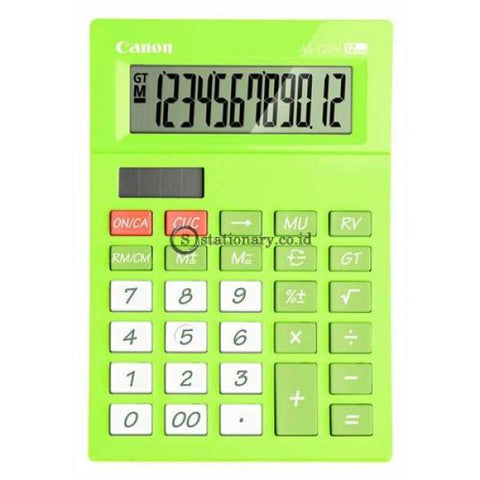 Canon Desktop Calculator As-120V 12 Digit Green Office Stationery