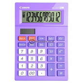 Canon Desktop Calculator As-120V 12 Digit Purple Office Stationery