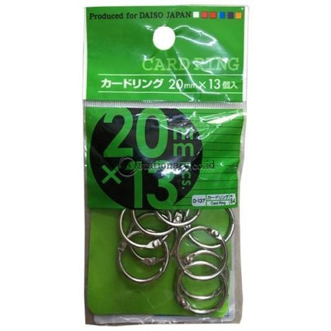 Card Ring Daiso 20Mm X 13 Office Stationery
