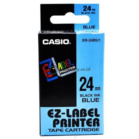 Casio Ez Label Printer Xr-18Gn1 18Mm Black On Green Tape Cartridge Office Equipment