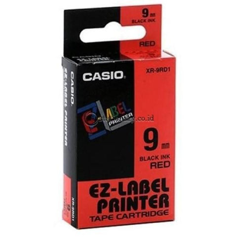 Casio Ez Label Printer Xr-9Rd1 9Mm Black On Red Tape Cartridge Office Equipment