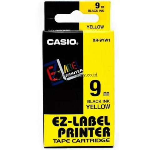 Casio Ez Label Printer Xr-9Yw1 9Mm Black On Yellow Tape Cartridge Office Equipment