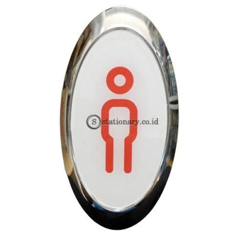 Chromed Sign Oval Pria 8 X 15 Cm Office Stationery Digital & Display