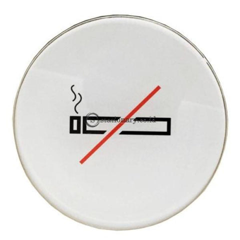 Chromed Sign Round No Smoking Diameter 16.5 Cm Office Stationery Digital & Display