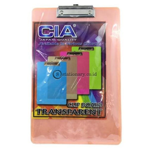 Cia Clipboard Transparant Warna Folio Office Stationery