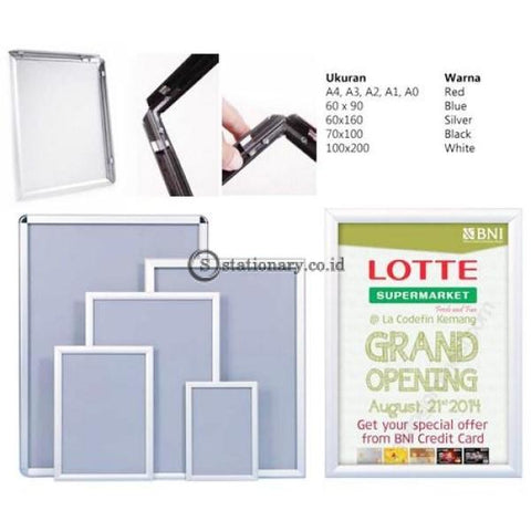 Click Frame Silver A2 Digital & Display Promosi