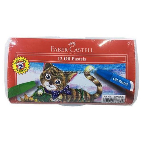 Crayon Faber Castell Oil Pastel Set 12 Colours Art No.120063Oc Office Stationery
