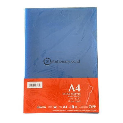 Daiichi Clear Sleeves A4 (240X315Mm) Biru Dcs05A4-102012 Office Stationery