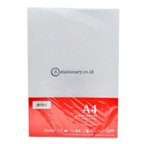 Daiichi Dcs05 Clear Sleeve A4 (240X315Mm) Bening Office Stationery