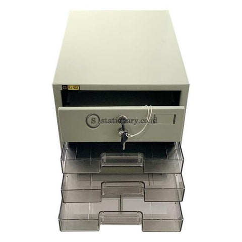 Data Tray Metal 4 Laci Drawer dengan Kunci #304