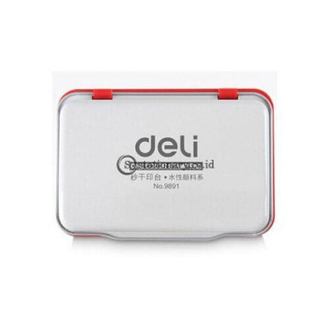 Deli Bak Stamp Pad (Red) 9891 Office Stationery