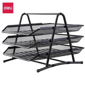 Deli Bak Surat Dokumen 3-Tier Mesh File Tray E9181 Office Stationery