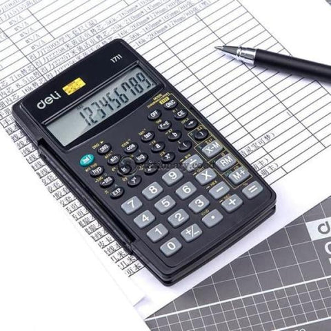 Deli Calculator Scientific (8+2 Digits & 56 Functions) E1711 Office Stationery