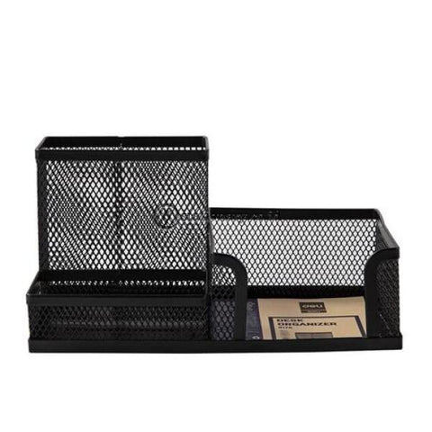 Deli Desk Set Mesh Organizer 3 Compartment E9175 Office Stationery