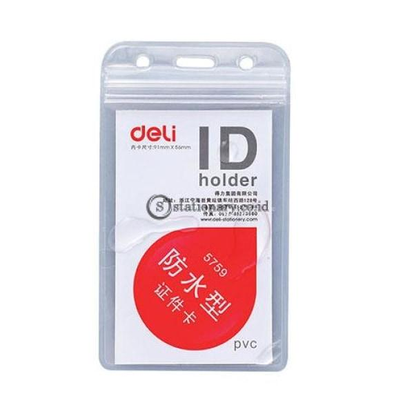 Deli Id Case Name Badge Transparant Portrait E5759 Office Stationery