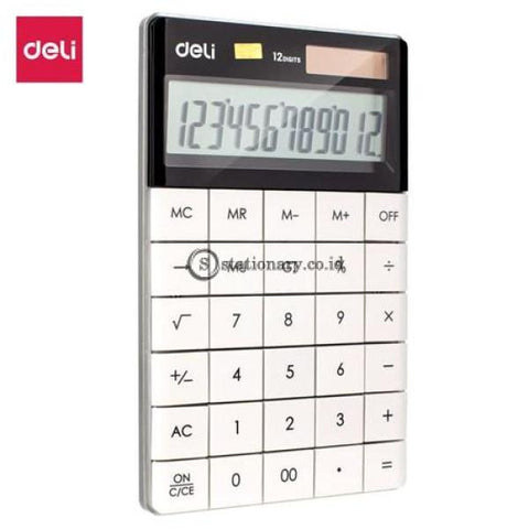 Deli Modern Calculator 12 Digit White E1589 Office Stationery