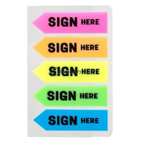 Deli Post It Memo Film Index Arrow Sign Here 44X12Mm (5X20Sheet) Ea11302 Office Stationery