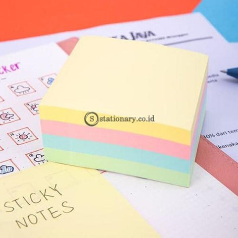 Deli Post It Memo Sticky Notes 76X76Mm (4X100Sheets) Ea01703 Office Stationery
