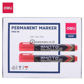 Deli Spidol Permanent Marker Mate U102 #eu10240 Office Stationery