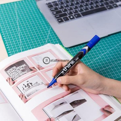 Deli Spidol Permanent Marker Think 1.5Mm Blue Eu10030 Office Stationery