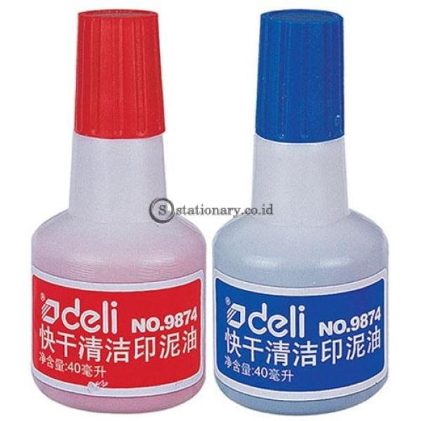 Deli Stamp Ink E9874 Red Office Stationery