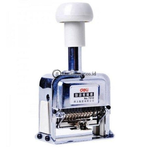 Deli Stempel Auto Numbering Machine 10 Digit E7510 Office Stationery