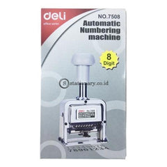 Deli Stempel Auto Numbering Machine 8 Digit E7508 Office Stationery