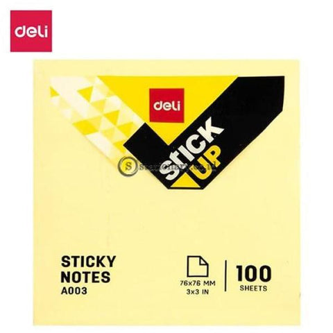Deli Post It Memo Sticky Notes 76X76mm (100sheets) EA00353