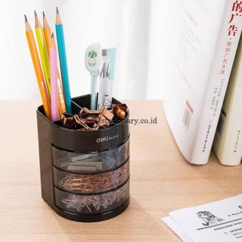 Deli Tempat Pensil Desk Set Organizer 6 Compartment E9147 Office Stationery